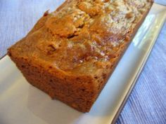Persimmon Bread. Got on the Food Network site, originally from From the New Orleans Time Picayune. Makes 2 loaves and freezes well. This is absolute perfection!  The only changes I made were to leave out the nuts and to use 1/2 tsp powdered ginger instead of the cloves and allspice. Also, mine was done in 55 minutes. Much easier than the James Beard recipe and just as good!