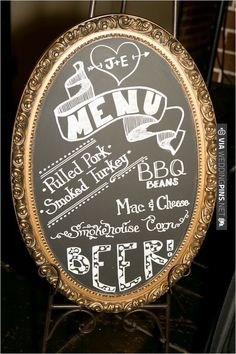 vintage chalkboard menu sign | VIA #WEDDINGPINS.NET