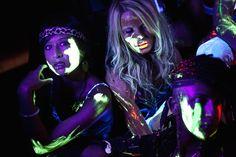 black light paint party