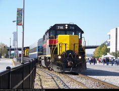 IAIS 716   Description:  Iowa Interstate GP38-2 716 switches the passenger cars for the QJs.   Photo Date:  10/18/2008   Location:  Rock Island, IL   Author:  Robby Gragg  Categories:    Locomotives:  IAIS 716(GP38-2)