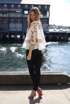 Fragility mixed with chic. Love the detailing on the blouse, exquisite.