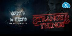Stranger Things - Efecto de texto con Photoshop - Aprende Photoshop
