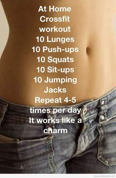 At home crossfit workout that I can actually do!