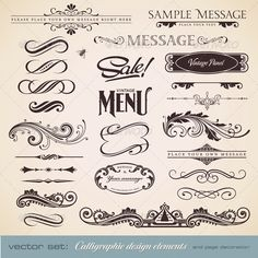 Calligraphic Design Elements and Page Decoration 3 - GraphicRiver
