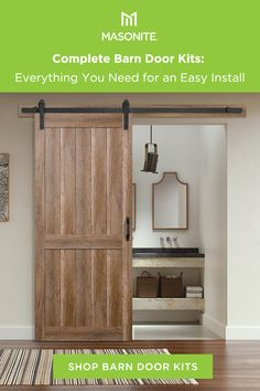 Masonite Barn Doors are perfect for creating a unique transition between rooms and they're easy to install! Start your new home project today. Home Renovation, Home Remodeling, Diy Barn Door, Barn Doors, My New Room, Home Projects, Farmhouse Decor, Diy Home Decor, New Homes