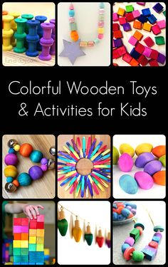 Colorful Wooden Diy Toys & Activities For Kids