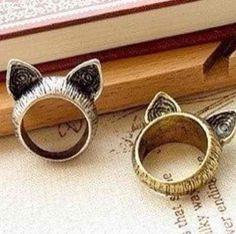 anillos orejas de gato