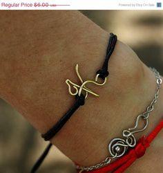 ChristmasSale One letter bracelet - brass personalized bracelet