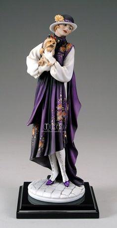 Giuseppe Armani-Young Lady With Yorkie Porcelain Jewelry, Porcelain Vase, Fine Porcelain, Painted Porcelain, Hand Painted, Dresden, Art Nouveau, Porcelain Dolls Value, Armani Collection