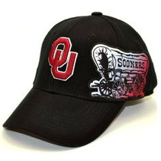 buy online a5c91 fab32 NCAA Oklahoma Sooners Men s Free Agent 1 Fit Cap (Black, One Size) by Top  of the World. Save 57 Off!.  8.51