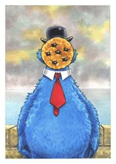 Magritte parody: Cookie Monster