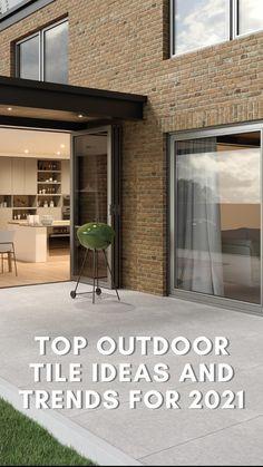 Outdoor Tiles, Bbq Area, Dining Area, Tile Floor, Outdoor Living, Exterior, House, Garden Ideas, Home Decor