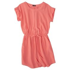 The Webster at Target® Easy Waist Short Sleeve Dress - Melon.