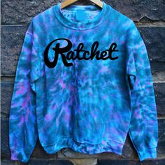 "tie-dye ratched jumper, blue and purple, marble effect? New ""hipster"" brand ratchet<3"