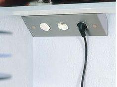 multiprise pour angle de plan de travail ou dessous de meuble haut ... - Plan De Travail D Angle Pour Cuisine