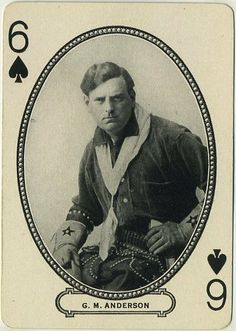 """G.M. """"Broncho Billy"""" Anderson 1916 MJ Moriarty Silent Film Star Playing Card, $14.00"""