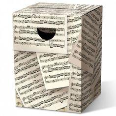 438fa389581a Tabouret en carton Partition de musique Remember - Facile à construire en 5  minutes - Résiste jusqu à 200 kg ! Meubles en carton de L Atelier Chez Soi