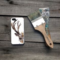Adorn your new iPhone or Samsung Galaxy phone with a unique protective case featuring my abstract watercolor drawing of a deer.  My deer drawing will