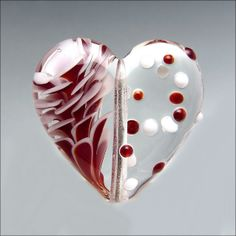 Lampwork Glass Heart Focal Bead - Deep Red | Flickr - Photo Sharing!