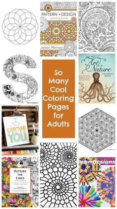 Lots of cool coloring pages for older kids and adults.