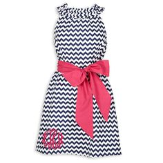 Ladies Small Navy Chevron Ruffle Neck Dress – Lolly Wolly Doodle