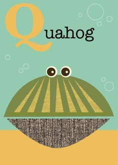 Q quahog by JennSki on Etsy
