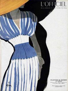 dress by Carven, illustrated by Rene Gruau, March 1947 - loving the illustration style