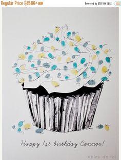 ON SALE The original guest book fingerprint sprinkles by bleudetoi