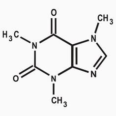 CAFFEINE molecule coffee funny NERD