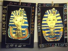 Ancient Egypt Gold scratch art paper, then use acrylics to highlight! Egypt Crafts, Ancient Egypt Art, 2nd Grade Art, Ecole Art, School Art Projects, Art Lessons Elementary, Middle School Art, Egyptian Art, Art Lesson Plans