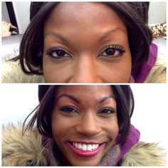Brow Tint brings a gorgeous smile and transformation!!!