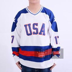 1980 Miracle On Ice Team USA Jim Craig Hockey Jersey