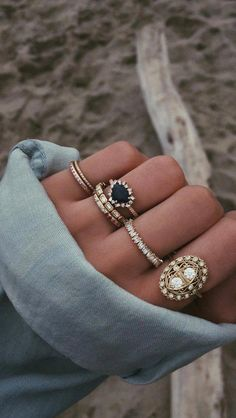 Lucky Horse Shoe Mini Size Child Ring Adult Pinky Ring Created CZ Crystal Aqua Blue 14k Yellow Gold