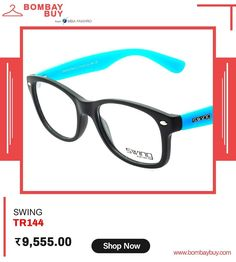 SWING brings the most flexible & light weight collection with Wayfarer eyeglasses for men & women. Wear this Black matt frame and blue temples to generate the unique look in you.  #EyewearOnlineInIndia #OnlineFashionStoreInIndia #womenEyewearShoppingIndia #MensEyewearOnlineInIndia #SpectaclesForMenandWomenOnline #BuyFashionEyewearOnlineIndia #FashionAccessoriesOnineIndia #eyeweardesign #eyewearonlineshop #eyewearfashion #eyewearonline #eyeweartrend2020 Eyewear Trends, Eyewear Online, Online Fashion Stores, Temples, Eyeglasses, Wayfarer, Fashion Accessories, Women Wear, Unique