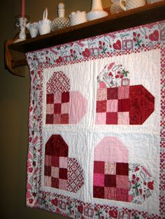 Valentine quilt - my upstairs hall