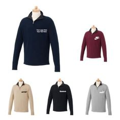 """Custom Imprinted Men's Morton Quarter Zip Cotton Sweaters: Versatile clothing for men.  Available Colors: Black, Desert Khaki, Heather Gray, Maroon, Navy. Product Size: S, M, L, XL, 2XL, 3XL, 4XL, 5XL. Imprint Area: Centered on Left Chest Right Chest 4.00"""" H x 4.00"""" W. Material: Cotton Jersey Knit. #fashion #menswear #ootd #sweater"""