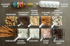 How to Host a Hot Chocolate Bar Party – Blendtec Learn how to host the best Hot Chocolate Bar Party with this recipe, free printable sign and tags, setup ideas and list of add-ins! Hot Chocolate Party, Cocoa Party, Crockpot Hot Chocolate, Christmas Hot Chocolate, Hot Chocolate Recipes, Hot Chocolate Toppings, Hit Chocolate Bar, Hot Chocolate Bar Wedding, Noel Christmas