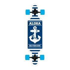 "Introducing The Anchor Longboard from Aloha • Length: 40"" • Width: 9.5"" •"