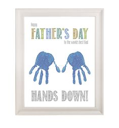 Father's Day Gift, Fathers Day Gift, Father's Day Printable, 8 x 10, Personalized, Handprint, Father's Day Card, Kids gift to a father on Etsy, $2.99