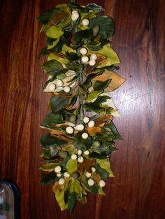 Hand crafted sugar winter foliage cascade.