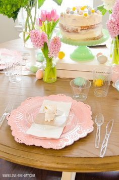 Use the complete Chinet Cut Crystal line to set the perfect spring tablescape this Easter.