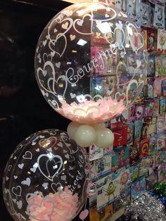 Confetti stuffed personalised bubbles