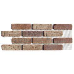 Brickweb 8.7-sq ft Box Smooth Castle Gate Brick Veneer
