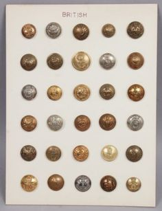 Antique-19c-Early-20c-Group-Brass-British-incl-Canada-China-Uniform-Buttons