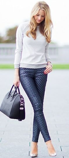 Legging à motif brillant