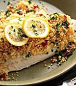 Baked Tilapia with Couscous! Not typically a fan of Mrs. Ray's recipes but this one is so super easy and really good. I thought it was a bit bland so next time I will add the full amount of cumin reccommended.