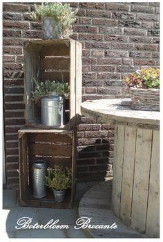 Ook met een klein terras kan je een gezellig hoekje maken.