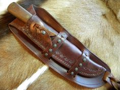 KEPHART KNIFE AND CUSTOM SPOTTED LEATHER SHEATH    eBay