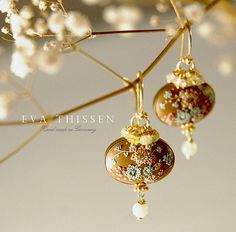 Gorgeous hand made earrings