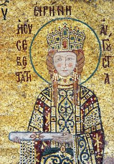 Empress Irene, as seen in Hagia Sophia, Constantinople.